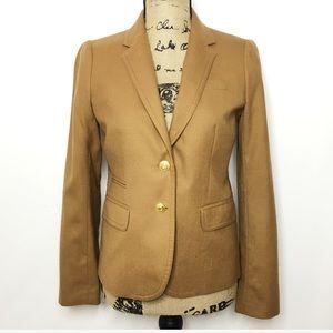 J. Crew Tan Wool Schoolboy Blazer Jacket